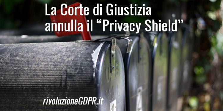 annullamento privacy shield