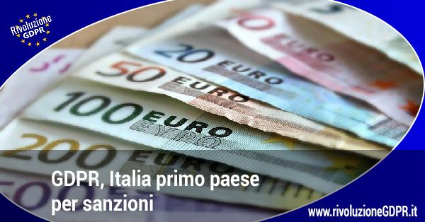 italia primo paese sanzioni